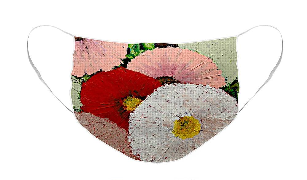 Landscape Face Mask featuring the painting From the Garden by Allan P Friedlander