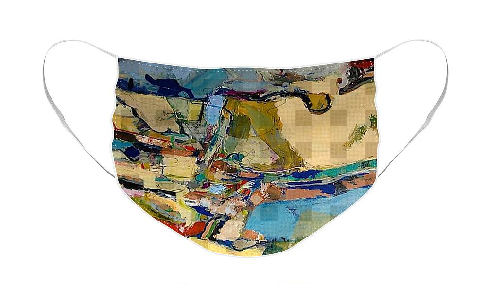 Landscape Face Mask featuring the painting Pastime Drive by Allan P Friedlander