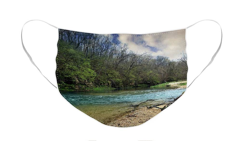 Current River Face Mask featuring the photograph Spring On The Upper Current River by Marty Koch
