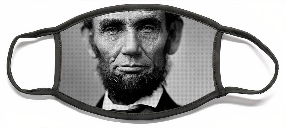Lincoln Face Mask featuring the photograph Abraham Lincoln by War Is Hell Store