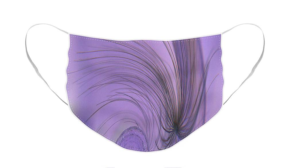 Abstract Face Mask featuring the photograph Abstract In Purple by Holly Morris