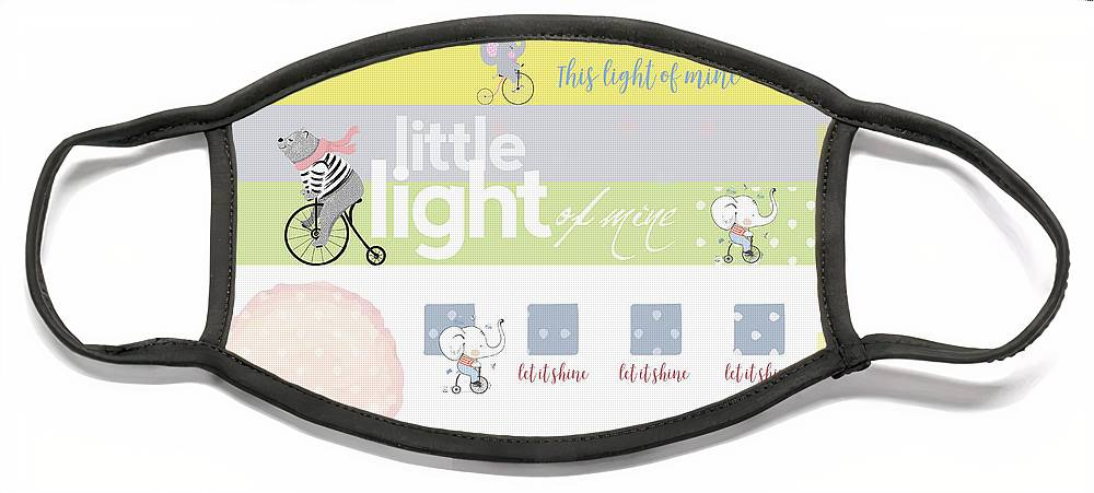 Children Face Mask featuring the digital art Light Of Mine by Claire Tingen