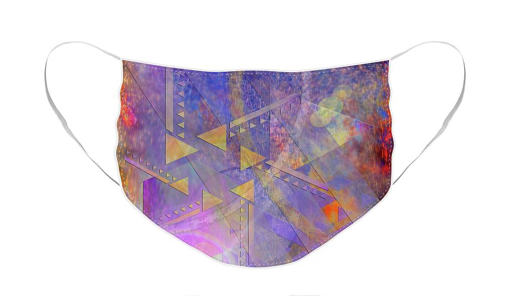 Aurora Aperture Face Mask featuring the digital art Aurora Aperture by John Robert Beck