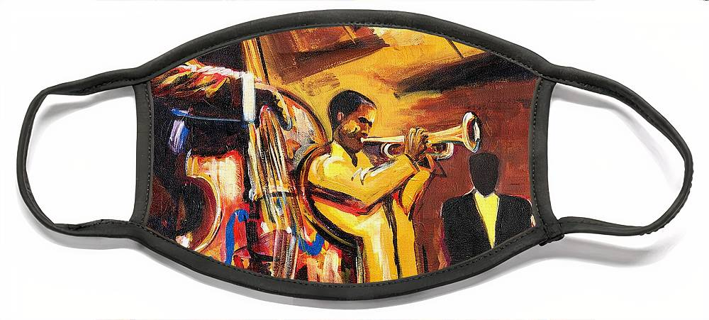 Everett Spruill Face Mask featuring the painting Birth Of Cool by Everett Spruill