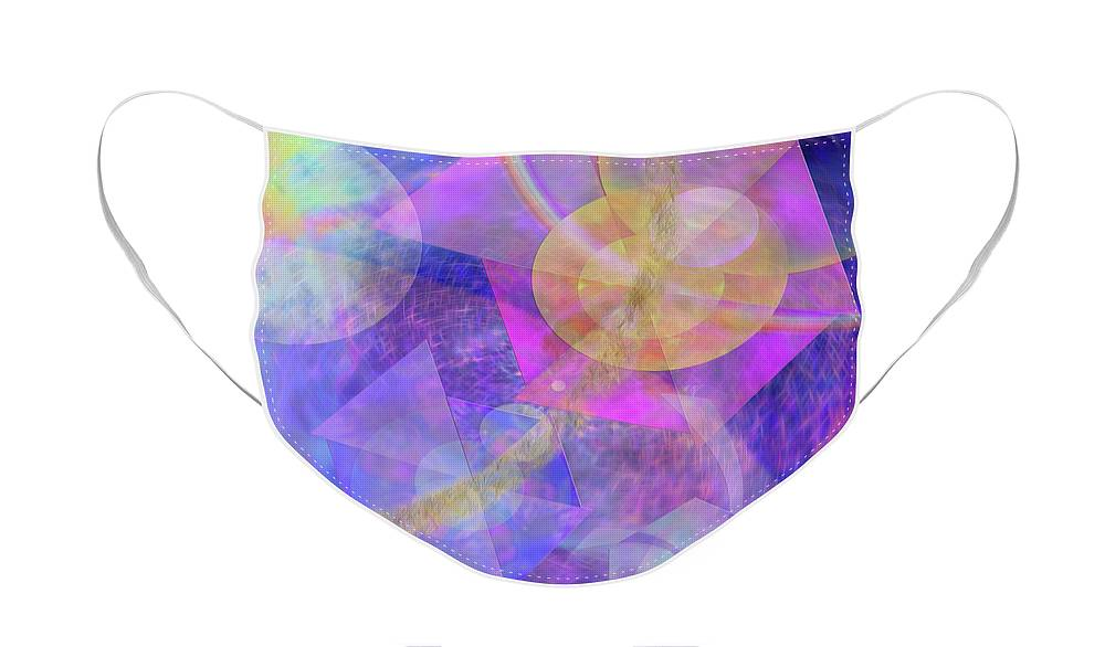 Blue Expectations Face Mask featuring the digital art Blue Expectations by John Robert Beck