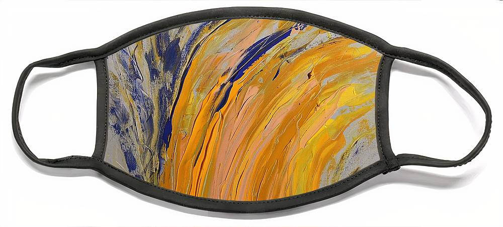Colorado Face Mask featuring the painting Bursting by Pam Roth O'Mara