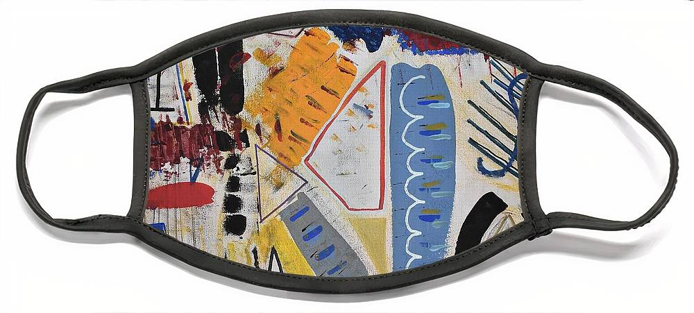 White Face Mask featuring the painting Cacophony by Pam Roth O'Mara