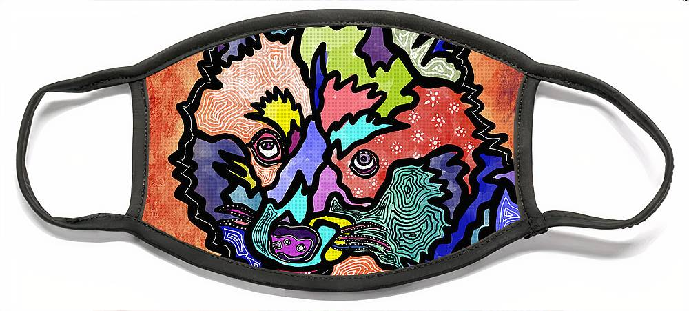 Pet Love Face Mask featuring the digital art Charlie by Marconi Calindas