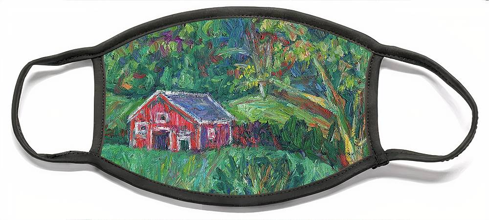 Rural Face Mask featuring the painting Clover Hollow in Giles County by Kendall Kessler