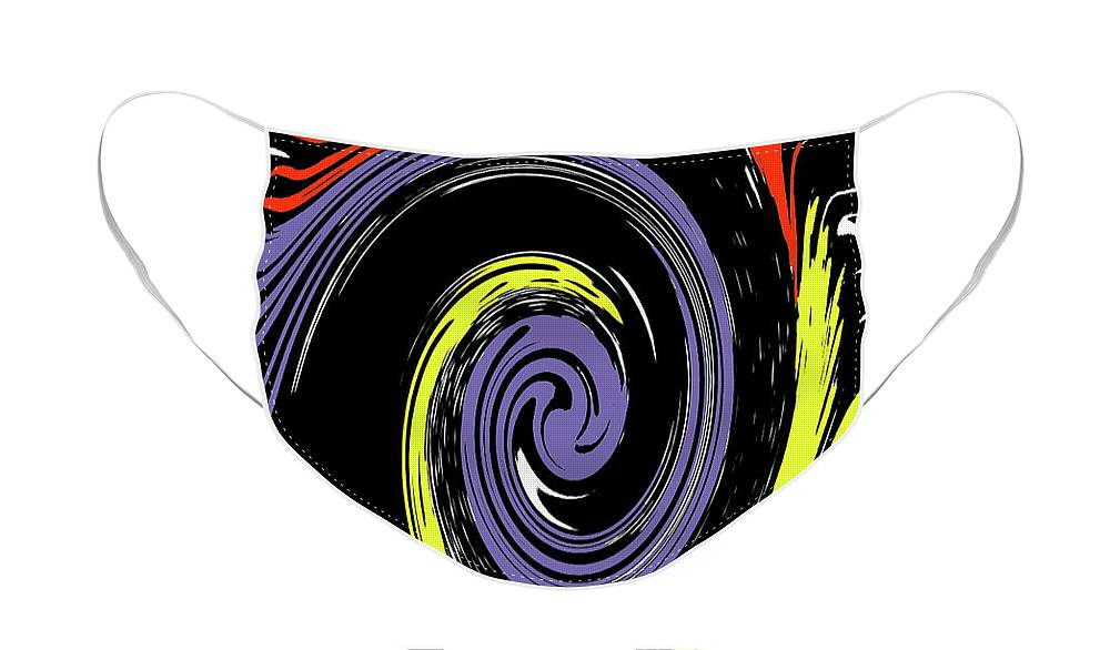 Abstract Face Mask featuring the photograph Colorful Swirl by Holly Morris