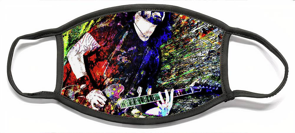 Dave Grohl Face Mask featuring the mixed media Dave Grohl Art by Ryan Rock Artist