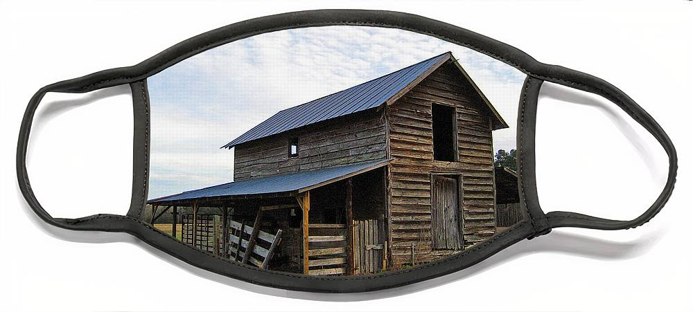 Barn Face Mask featuring the photograph Days Gone By by Suzanne Gaff