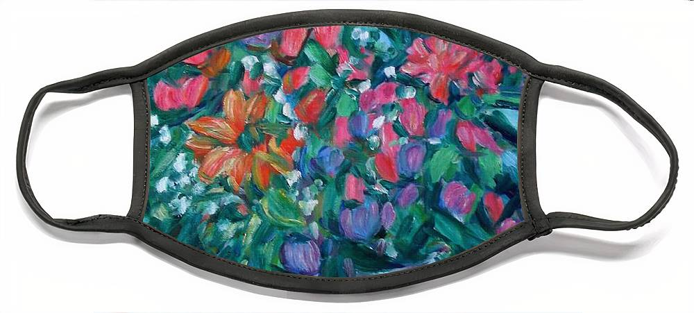 Floral Paintings Face Mask featuring the painting Dream Bouquet by Kendall Kessler