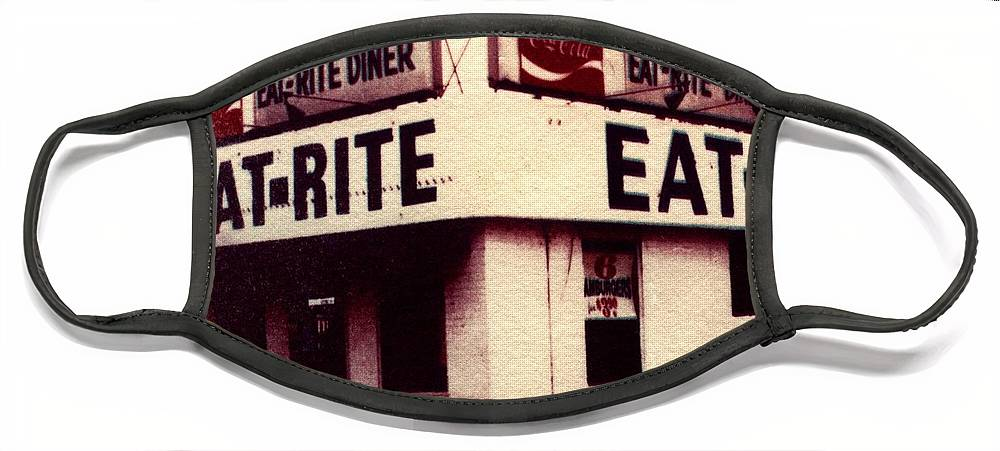 Polaroid Transfer Face Mask featuring the photograph Eat Rite by Jane Linders