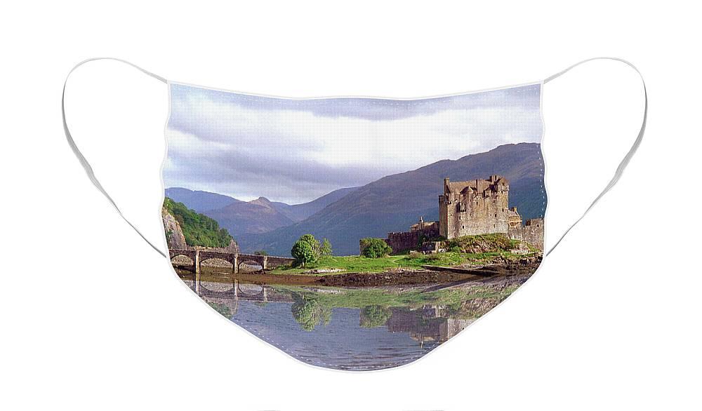 Eilean Donan Castle Face Mask featuring the photograph Eilean Donan Castle  in the Highlands of Scotland by David Rankin