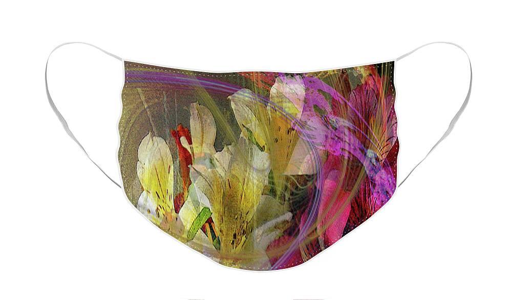 Floral Inspiration Face Mask featuring the digital art Floral Inspiration by John Robert Beck