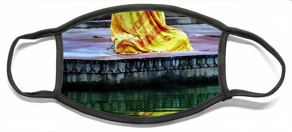Meditate Face Mask featuring the photograph Ganga Dream by Skip Hunt
