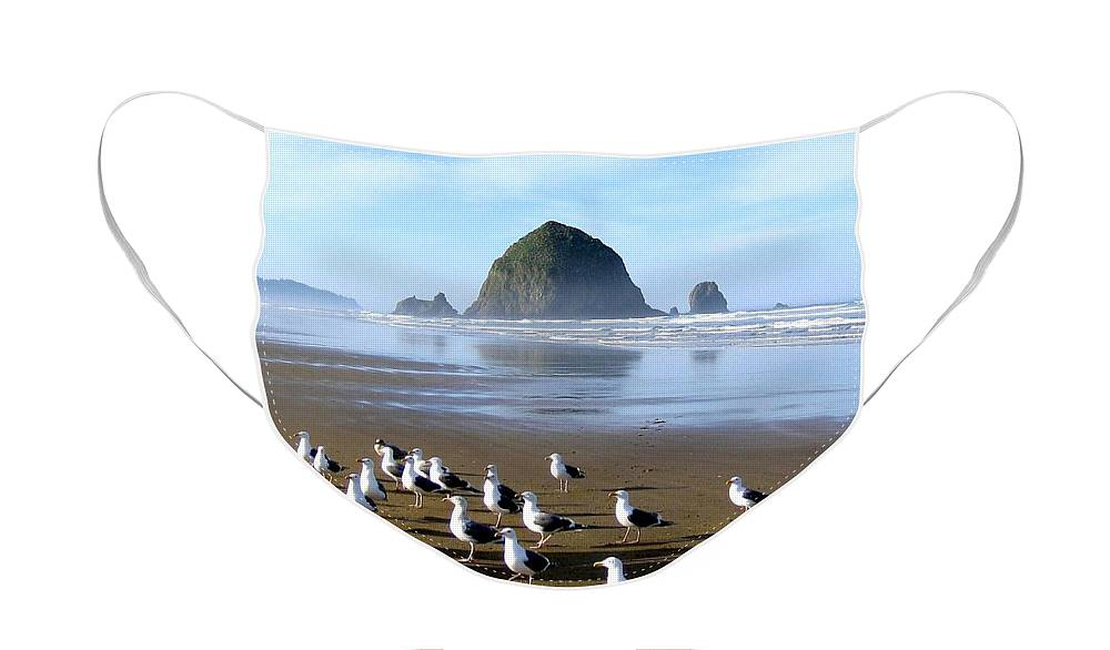 #gatheringofthegulls Face Mask featuring the photograph Gathering Of The Gulls by Will Borden