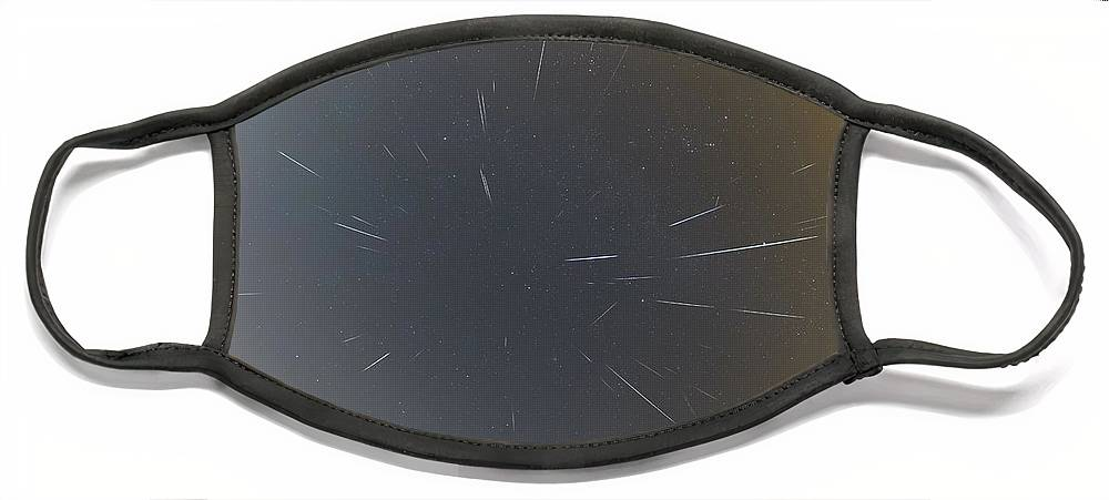 Face Mask featuring the photograph Geminids Meteor Shower 2020 by Prabhu Astrophotography