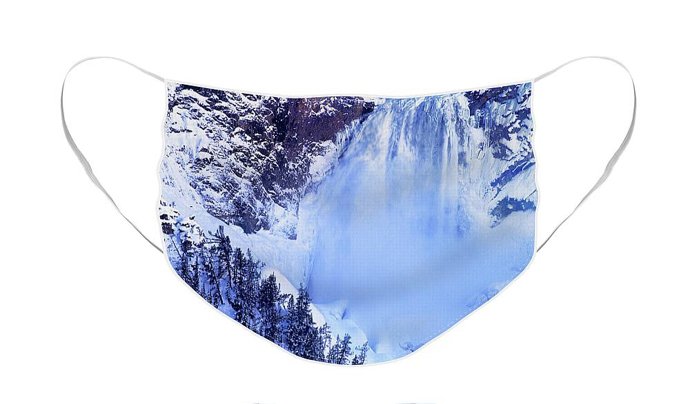 North America;wyoming;yellowstone Face Mask featuring the photograph Grand Canyon of the Yellowstone Yellowstone National Park Wyoming by Dave Welling