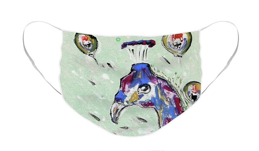 Monotype Face Mask featuring the mixed media Grand Splendor by Cori Solomon