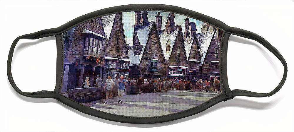 Hogsmeade Face Mask featuring the photograph Hogsmeade Shopping by Cedric Hampton