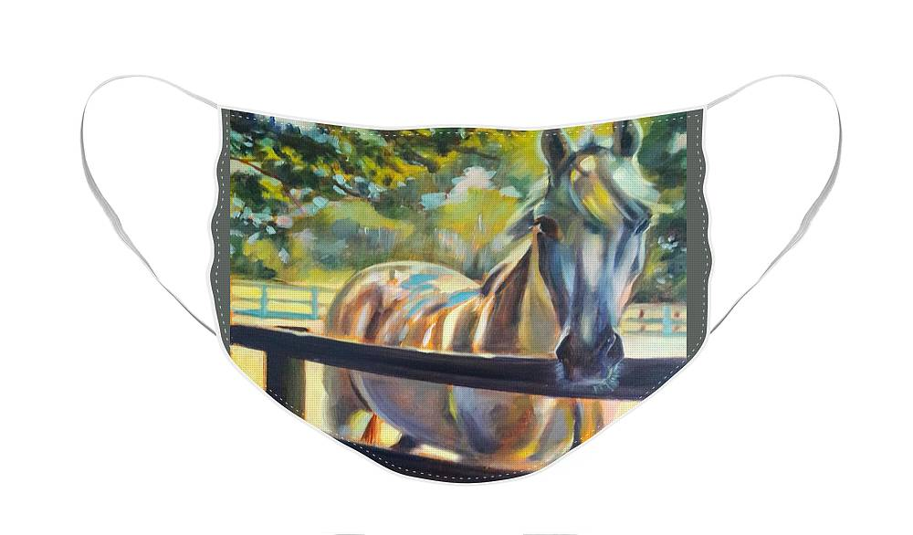 Face Mask featuring the painting Hot and Humid by Kaytee Esser