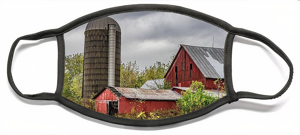 Landscape Face Mask featuring the photograph Indiana Barn #108 by Scott Smith