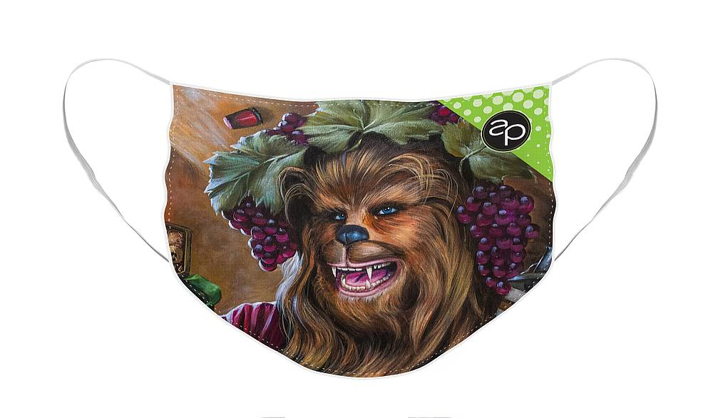 Intergalactic Krewe Of Chewbacchus Face Mask featuring the digital art Intergalactic Krewe of Chewbacchus by Art of the Parade Society