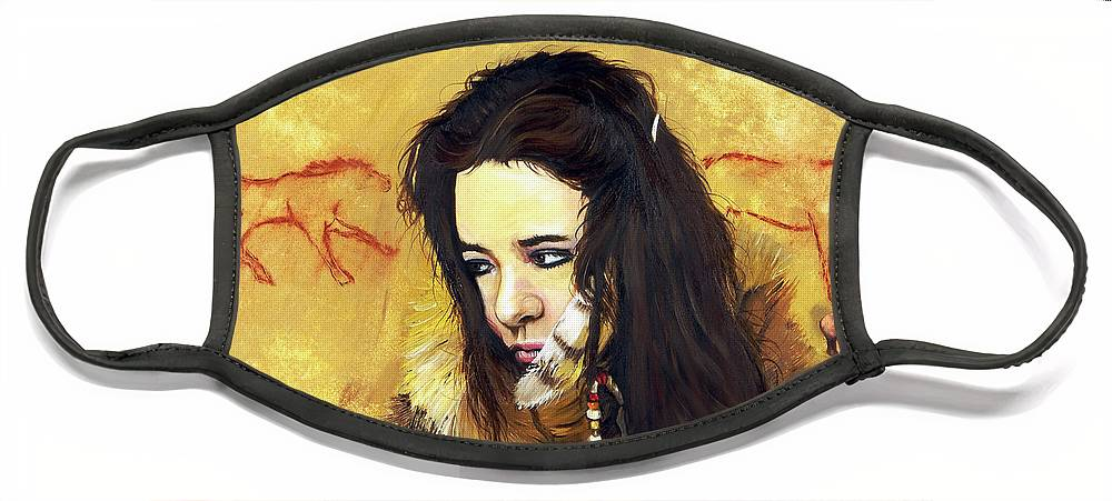 Southwest Art Face Mask featuring the painting Journey by J W Baker