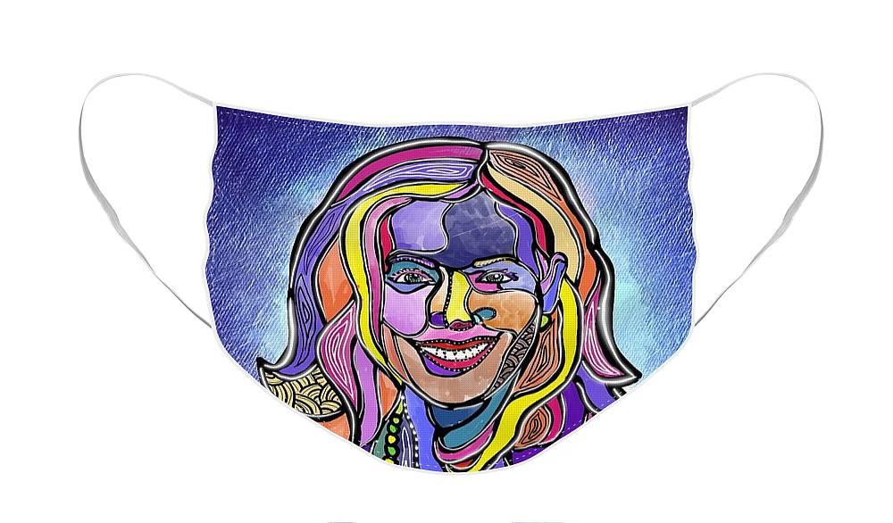 Kamala Harris Face Mask featuring the digital art Kamala by Marconi Calindas