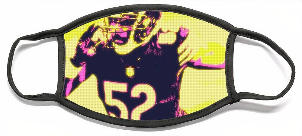 Khalil Face Mask featuring the painting Khalil Mack by Jack Bunds