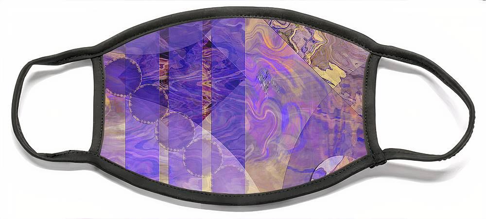 Lunar Impressions 2 Face Mask featuring the digital art Lunar Impressions 2 by John Robert Beck