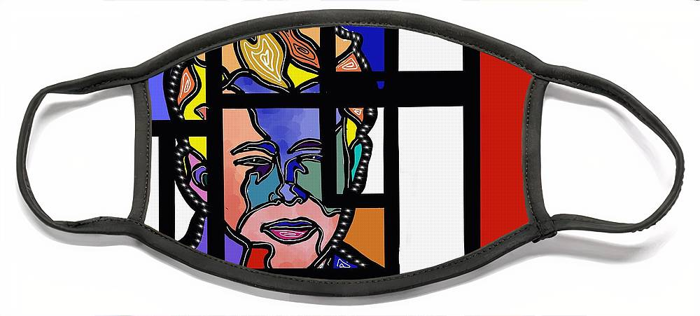 Marconi Art Face Mask featuring the digital art Marconi-Drian #11 by Marconi Calindas