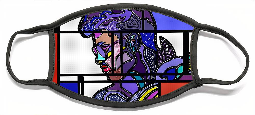 Marconiart Face Mask featuring the digital art Marconi-Drian #2 by Marconi Calindas