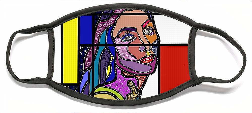Marconiart Face Mask featuring the digital art Marconi-Drian #3 by Marconi Calindas