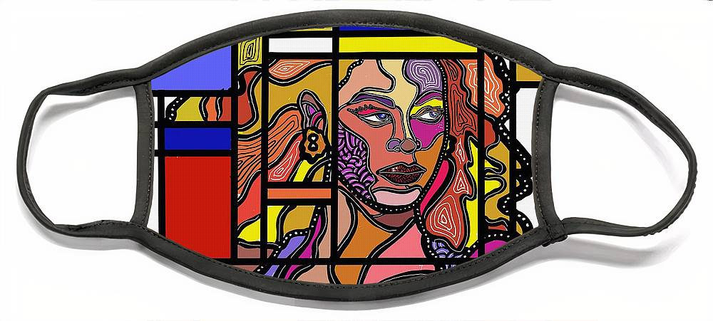 Marconiart Face Mask featuring the digital art Marconi-Drian #4 by Marconi Calindas
