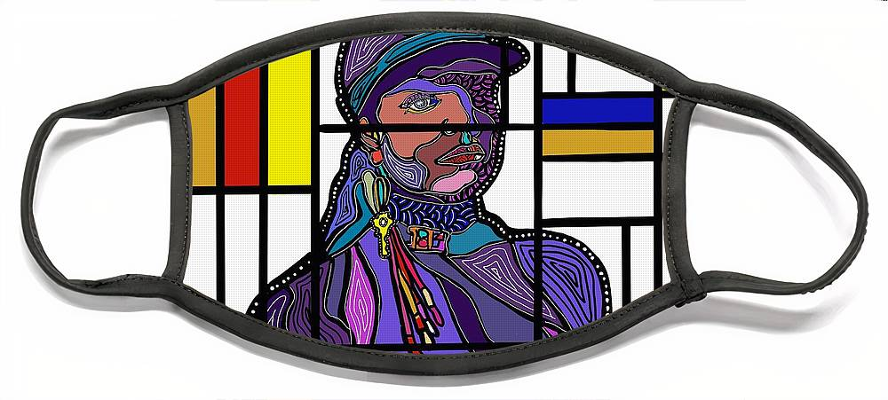 Marconi Art Face Mask featuring the digital art Marconi-Drian #6 by Marconi Calindas