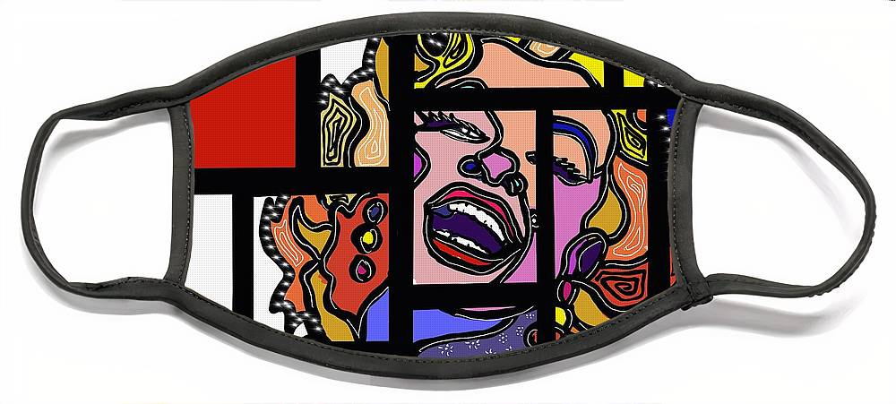 Marconi Art Face Mask featuring the digital art Marconi-Drian #7 by Marconi Calindas