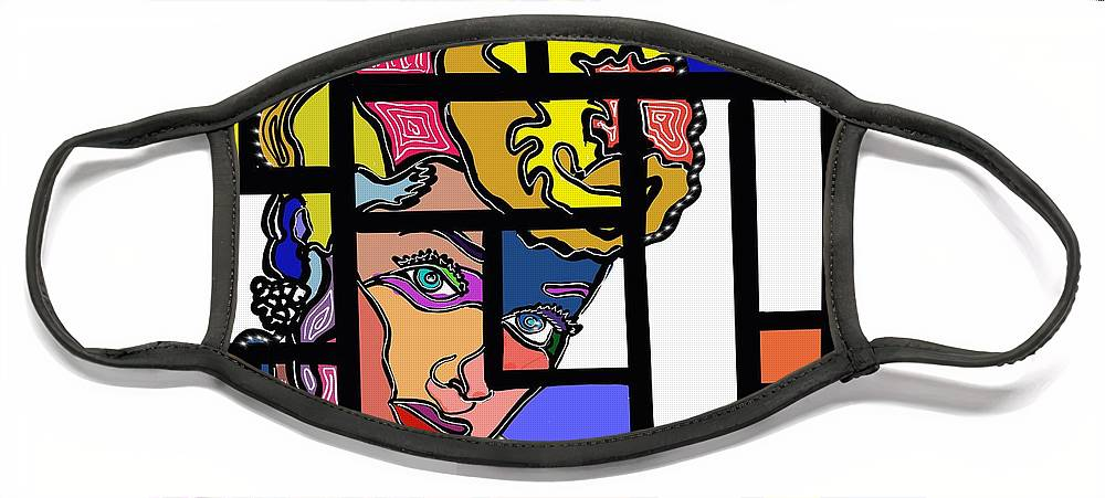 Marconi Art Face Mask featuring the digital art Marconi-Drian #8 by Marconi Calindas