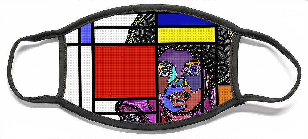 Marconi Art Face Mask featuring the digital art Marconi-Drian #9 by Marconi Calindas