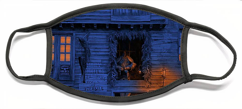 Diagon Alley Face Mask featuring the photograph Metalworks Shop At Diagon Alley by Cedric Hampton