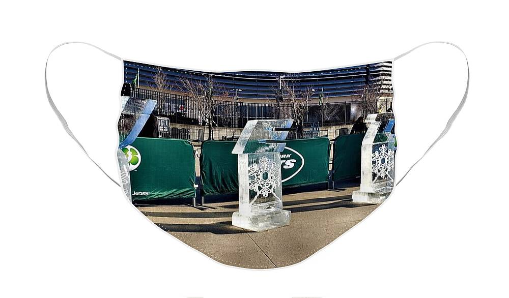 New York Jets Face Mask featuring the photograph New York Jets On Ice by Rob Hans