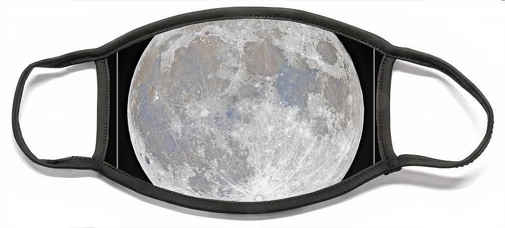 Fullmoon Face Mask featuring the photograph October 2020 Halloween Full/Blue Moon by Prabhu Astrophotography