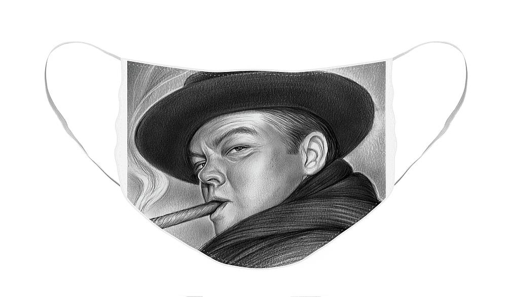 Sketch Of The Day Face Mask featuring the drawing Orson by Greg Joens