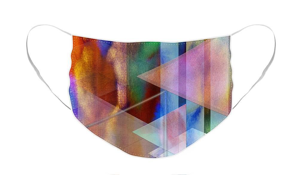 Pastoral Midnight Face Mask featuring the digital art Pastoral Midnight by John Robert Beck