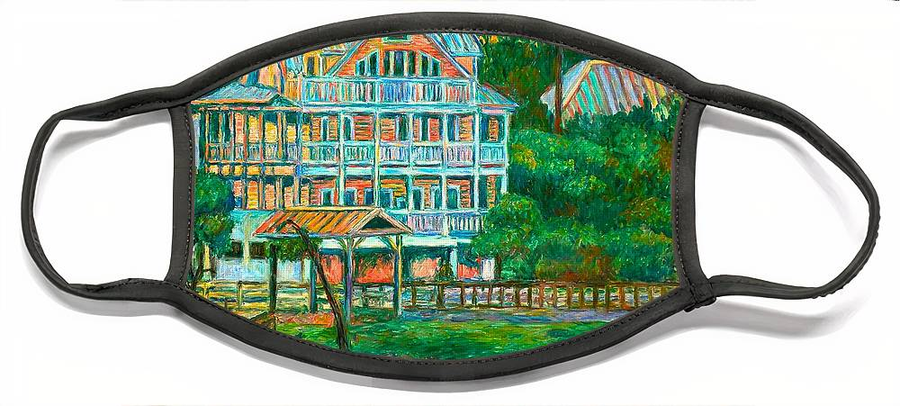 Landscape Face Mask featuring the painting Pawleys Island Evening by Kendall Kessler