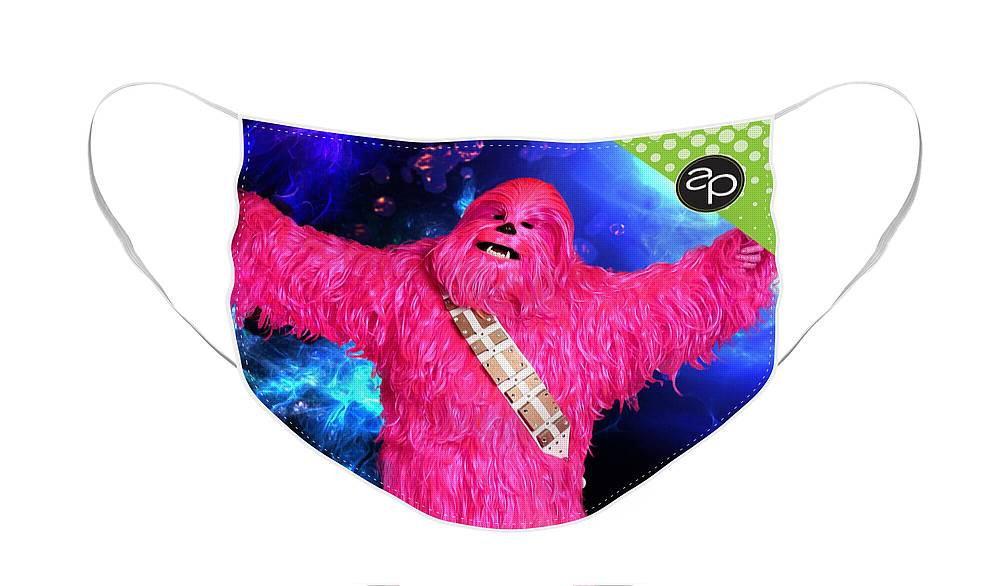 Art Of The Parade Society Face Mask featuring the digital art Pinkwookiee by Art of the Parade Society