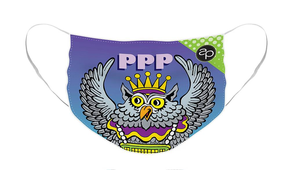 New Orleans Face Mask featuring the digital art Phunny Phorty Phellows by Art of the Parade Society