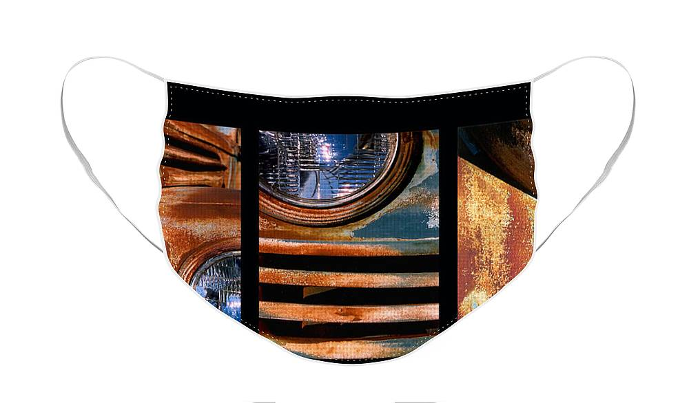 Abstract Face Mask featuring the photograph Red Head On by Steve Karol